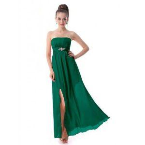 РАСПРОДАЖА! Платье без бретель с вырезом на бедре - Вечерние платья
