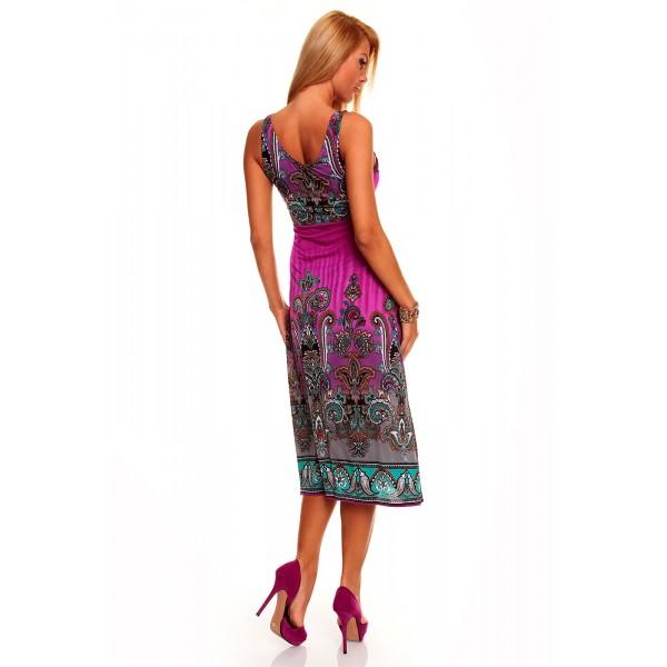 SALE! Summer dress with bright print. Артикул: IXI31147