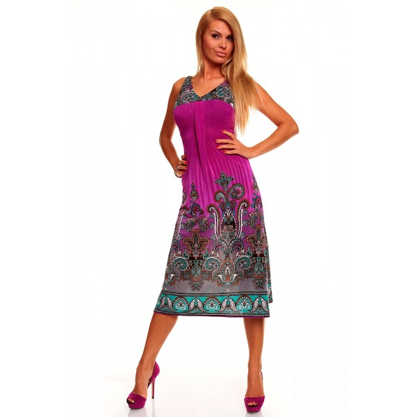 SALE! Summer dress with bright print. Артикул: IXI31147