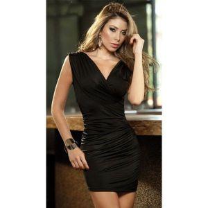РАСПРОДАЖА! Черное мини-платье
