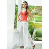 Flared beach pants