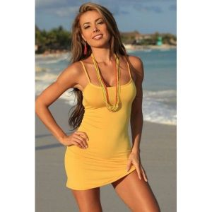 SALE! Beach dress yellow