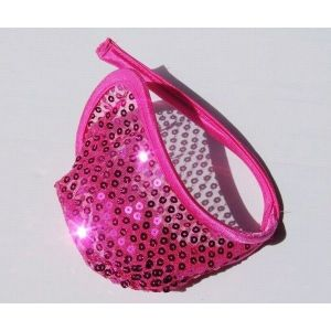 SALE! Pink g-string decorated with sequins