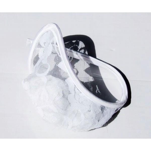 Купить онлайн Белые ажурные С-стринги фото цена акция распродажа
