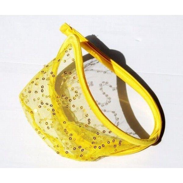 РАСПРОДАЖА! Прозрачные С-стринги желтого цвета