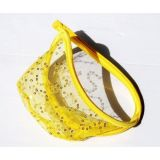 SALE! Transparent With g-string yellow