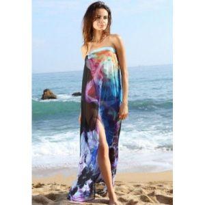Нежное шифоновое пляжное платье парео - Пляжная одежда