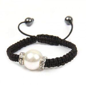 Woven bracelet Pearl