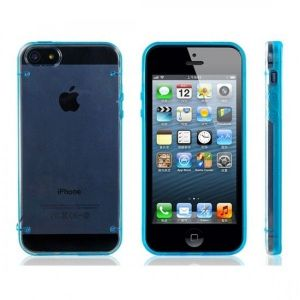 РАСПРОДАЖА! PC Plastic & TPU Rubber Dual Color Glow-in-the-Dark Protective Case for iPhone 5 (Blue) - Подарки