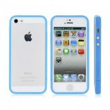РАСПРОДАЖА! Glossy Injection Painting Design PC Up & Down Protective Frame for iPhone 5 (Blue) по оптовой цене