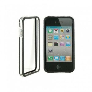 РАСПРОДАЖА! CO-49 Plastic Protective Ultra-slim iPhone 4G Bumper Frame Skin Case Cover with Power Switch Volume Control - Подарки