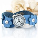 Delicate womens watch with flowers