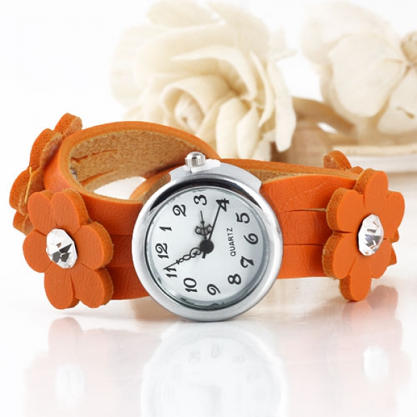 Delicate womens watch with flowers. Артикул: IXI33339