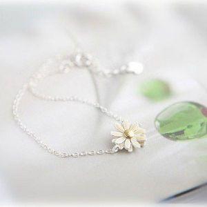 РАСПРОДАЖА! Мерцающее ожерелье с цветочком