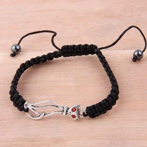 Rope bracelet with cat