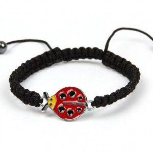 Rope bracelet with ladybug