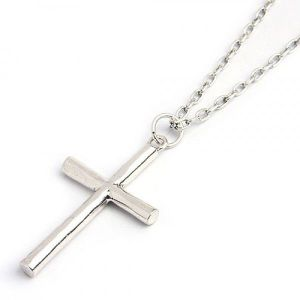 Stylish decoration on the neck with a cross