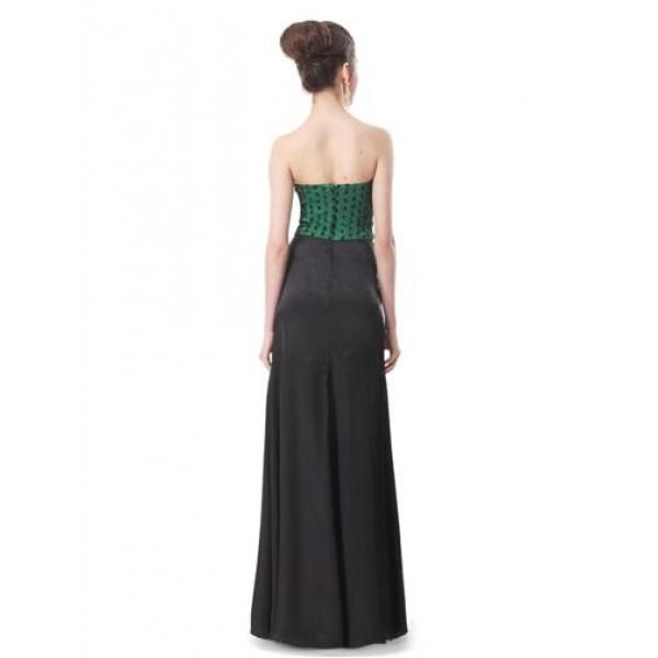 Bodycon dress without straps with pea print. Артикул: IXI33471
