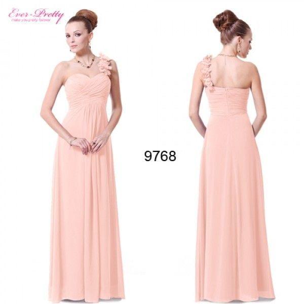 Нежное персиковое платье с цветочками