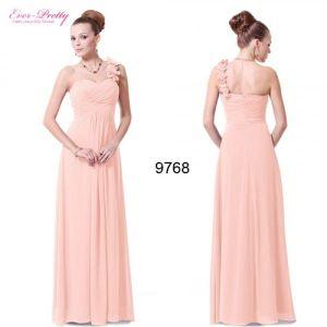 Delicate peach dress with flowers. Артикул: IXI33479