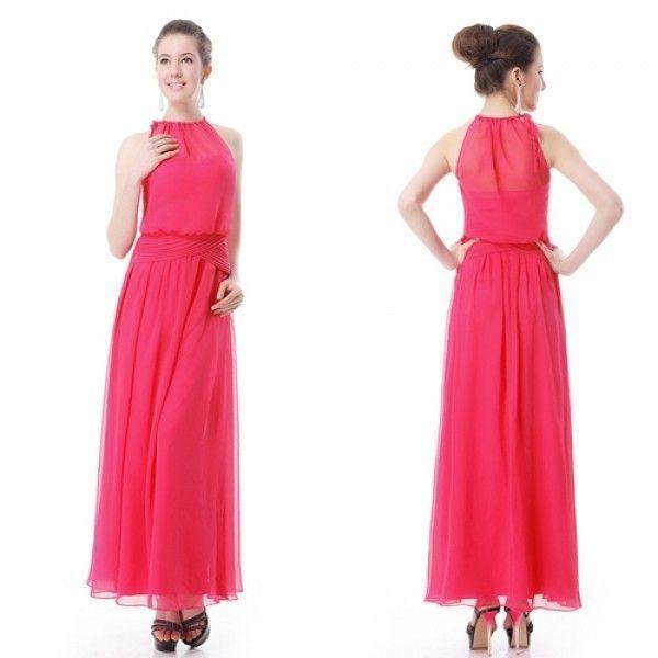 Розовое легкое платье без рукавов