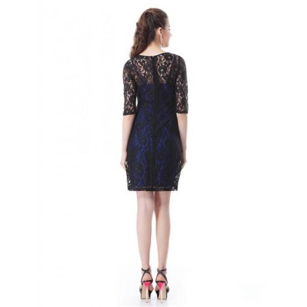 Lace dress with 3/4 sleeve. Артикул: IXI33520