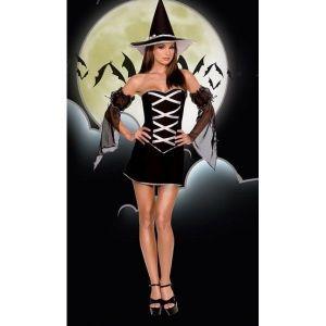 Карнавальный костюм ведьмочки на Хеллоуин