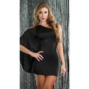 SALE! Luxurious mini dress one shoulder