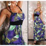 РАСПРОДАЖА! Длинное летнее платье павлин по оптовой цене