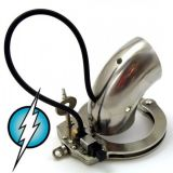 BDSM (БДСМ) - Electric Shock E-Stim Electrosex Masturbation CockCuff Tube For Normal Torture with 4 Holes
