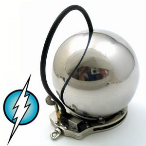 Electric Shock Electrical Twilight E-Stim Electrosex Penis Electrode Masturbation Ball CockCuff