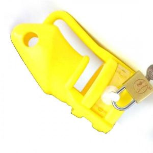 Yellow silicone chastity device