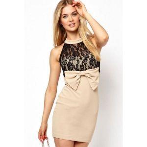 Облегающее платье без рукавов - Платья