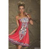 Летнее кораловое платье цена фото
