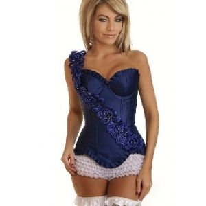 SALE! Corset Blue Flowers