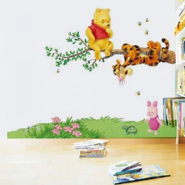 Виниловая наклейка - Винни Пух и его друзья на дереве