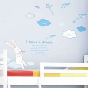 РАСПРОДАЖА! Виниловая наклейка - Кролик мечтатель - I have a dream - Интерьер, декор
