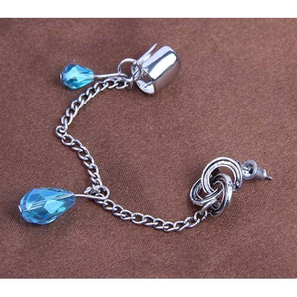 Stylish earrings with blue stones. Артикул: IXI35120