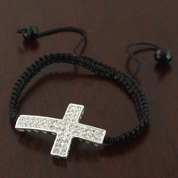 РАСПРОДАЖА! Плетеный браслет с крестиком