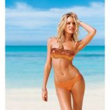 Swimsuit bandeau orange
