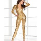 Vinyl Golden jumpsuit