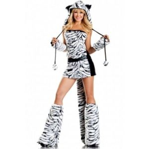 Costume carnival - White tiger