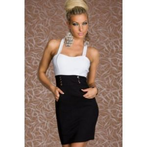 Black and white dress business
