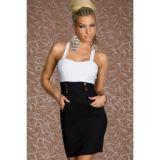 Черно-белое платье деловое по оптовой цене