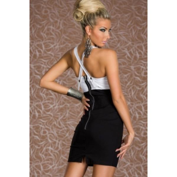 Black and white dress. Артикул: IXI35938