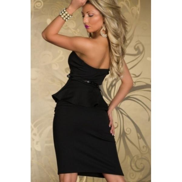 Стильное платье с золотым поясом