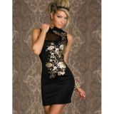 Облегающее платье черное по оптовой цене