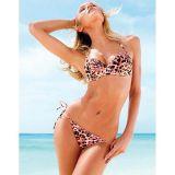 Leopard print pink swimsuit