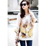 Элегантная шифоновая блузка золотая осень