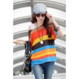 Multicolor Striped Bohemia Chiffon Smock